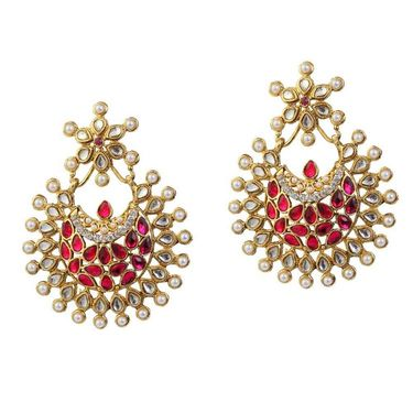 Kriaa Kundan Pearl Earrings _1303763