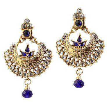 Kriaa Pearl Austrian Stone Earrings _1303791