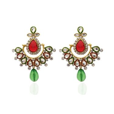 Kriaa Austrian Stone Kundan Earrings_1304811