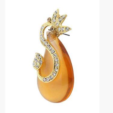 Kriaa Austrian Stone Resin Finish Earrings _1305725
