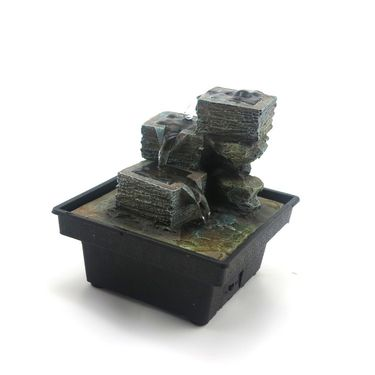 Square steps water fountain-1412-0580