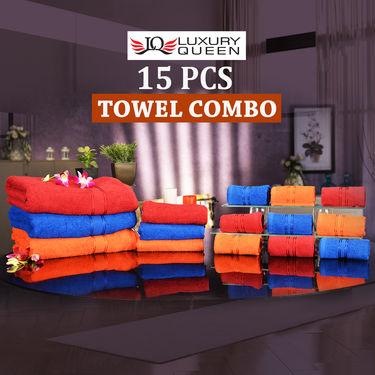 15 Pcs Towel Combo