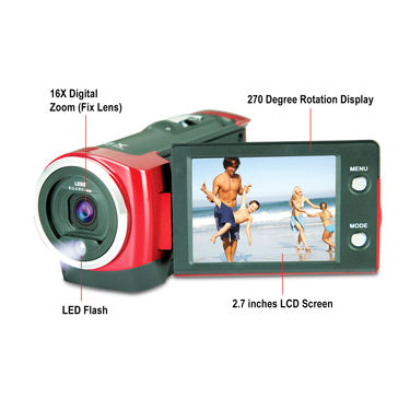 16 MP Camcorder with 4 GB Memory Card