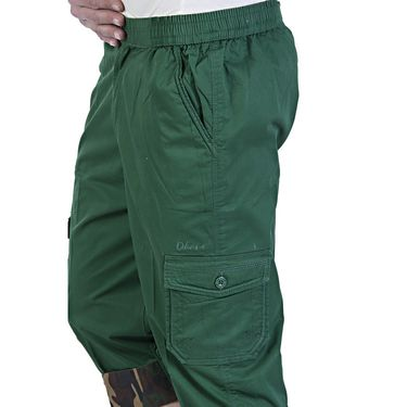 Okane Regular Fit Cotton Capri For Men_cp108 - Green