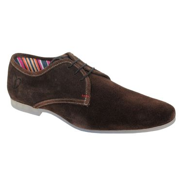 Delize Suede Leather Casual Shoes 1810-Brown