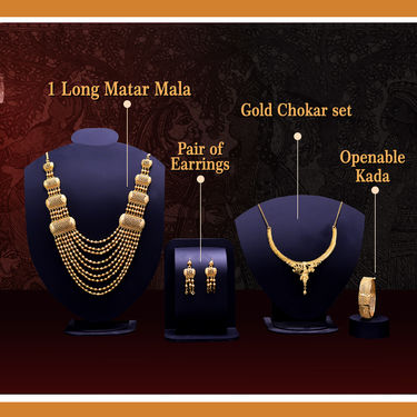 2 Gold Jewellery Sets with Kada (2GSK2)
