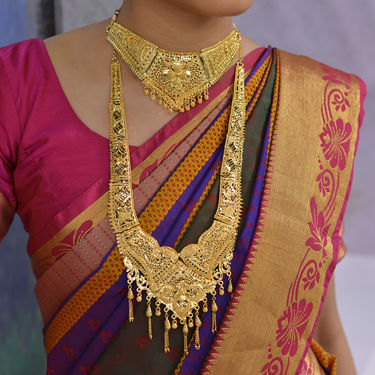 2 Gold Necklace with Ottiyanam