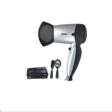 Stylish Hair Dryer With Pouch, Brush & Mirror-WMHD09