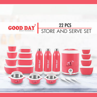 22 Pcs Insulated Jug + Bottles + Casserole + Storage Set