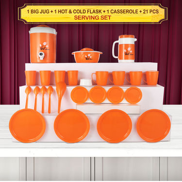 1 Big Jug + 1 Hot & Cold Flask + 1 Casserole + 21 Pcs Serving Set