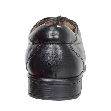 Delize Leather+Canvas Formal Shoes 25690-Black