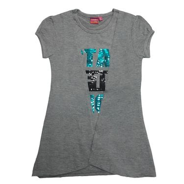 Tomato 26 Grey Casual T-Shirt for Girl's