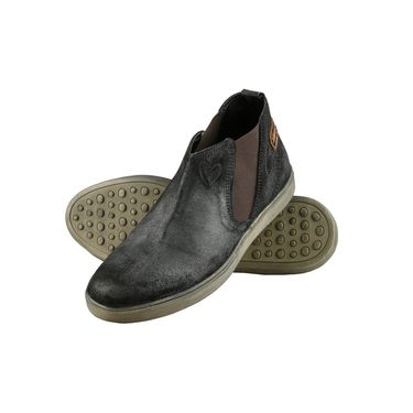 Delize Suede Leather Casual Shoes 26230-Black