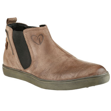 Delize Suede Leather Casual Shoes 26230-Brown