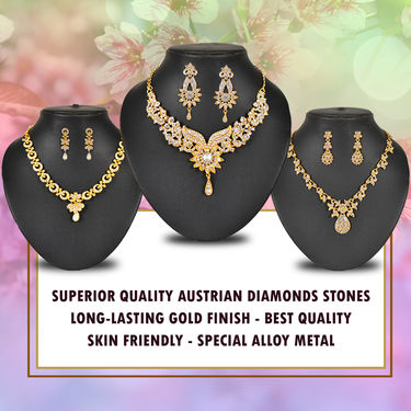 3 Austrian Diamond Jewellery Sets (3AUD1)