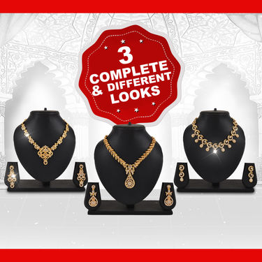 3 Austrian Diamond Jewellery Sets (3AUD2)