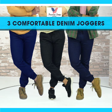 3 Comfortable Denim Joggers (MT10)