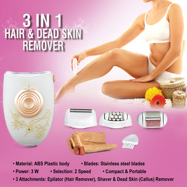 3 in 1 Hair & Dead Skin Remover