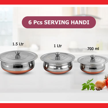30 Pcs Complete Copper Base Cook & Serve Set