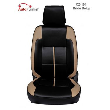 Autofurnish (CZ-101 Bride Beige) Mahindra Scorpio 7S Captain Leatherite Car Seat Covers-3001120