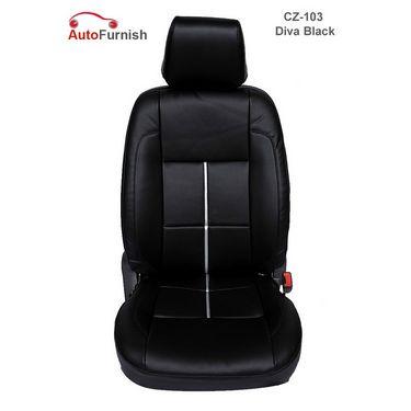 Autofurnish (CZ-103 Diva Black) Chevrolet Aveo 2006-12 Leatherite Car Seat Covers-3001482