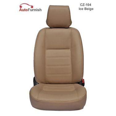 Autofurnish (CZ-104 Ice Beige) Honda Amaze 2013-14 Leatherite Car Seat Covers-3001755