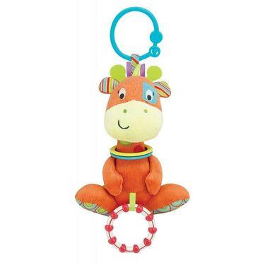Winfun Giraffe Hand Rattle Squeaker Crinkle Sound Multi Color