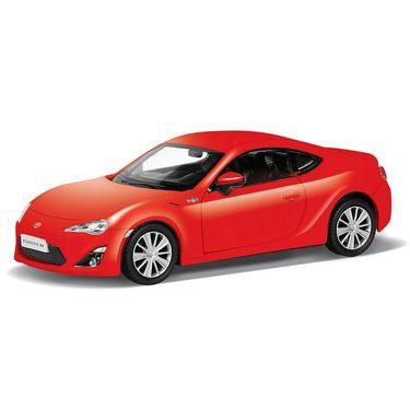 RMZ Toyota 86 Matte Red Pullback Diecast Toy Car