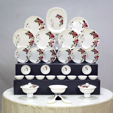 32 Pcs Melamine Designer Dinner Set