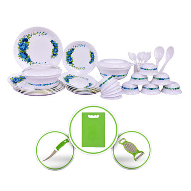 36 Pcs Designer Dinner Set with Free Chopping Board & Knife Set