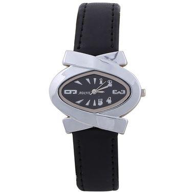 Adine Round Dial Analog Wrist Watch For Women_39bb011 - Black