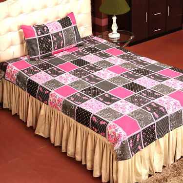 4 Double 4 Single Bedsheets with 12 Pillow Covers (4DSBS17)