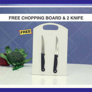 40 Pcs Colored Store & Serve Set with Free Chopping Board & 2 Knives
