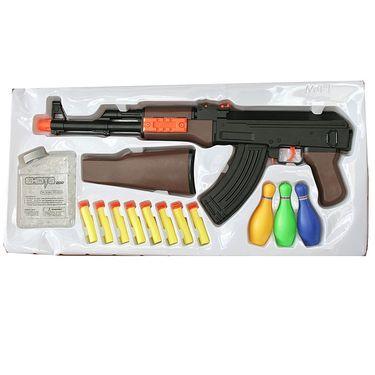 Kids Convertible Hand Gun Toy with 200 Water Shots, 8 Foam Darts, 3 Targets