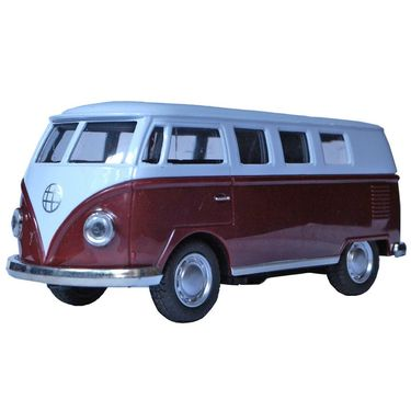 1:32 Scale White & Brown Die-Cast Bus Model