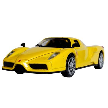 1:28 Scale Yellow Die-Cast Future Concept Sports Car Toy Model