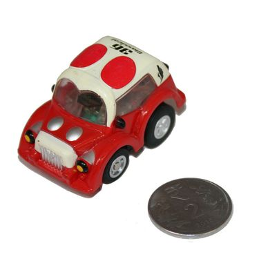 Adraxx Stunt Parkour Fly Mini RC Car Toy - Red & Cream