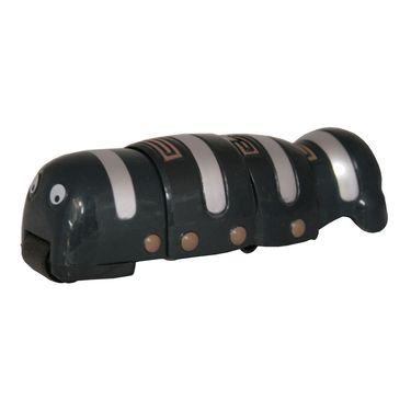 AdraxX Crawling Magnetic Worm Toy - Black