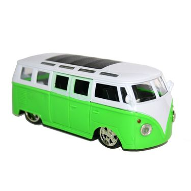School Bus With Light, Music, Opening Doors and TV Inside - Green