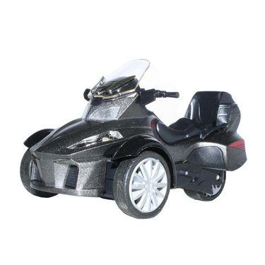 3-Wheel ATV Die Cast Metal Bike Toy For Growing Kids - Grey
