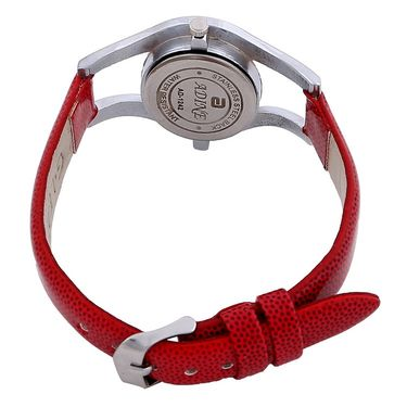 Adine Round Dial Analog Wrist Watch For Women_42rr019 - Red