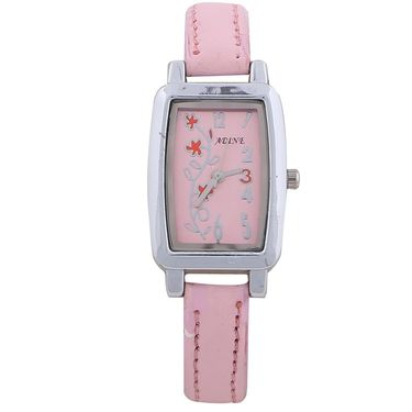 Adine Round Dial Analog Wrist Watch For Women_43pp020 - Pink