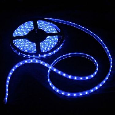 AutoStark 5 meters Waterproof Cuttable LED Lights Strip Roll for Car Home Office Decoration and Styling - Blue