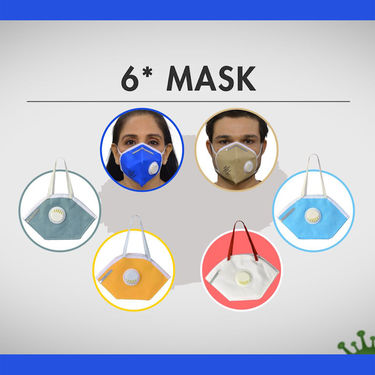 5 Layer KN95 Protective Mask - Pack of 6