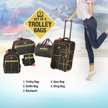 Top Gear Set of 5 Trolley Bags