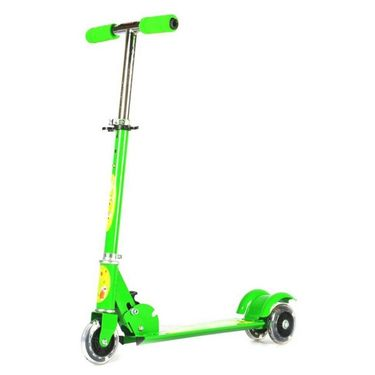 Kids Three Wheel Foldable Mini Scooter - Green