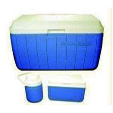 Coleman Cooler (54 Qt) 50.76 Ltr + Cooler (5 Qt) 4.7 Ltr + Jug (0.3 Gal) 1.13 Ltr (Blue)