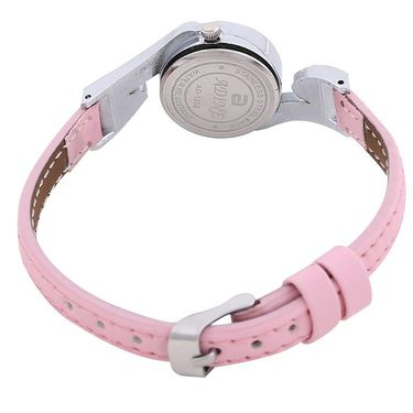 Adine Round Dial Analog Wrist Watch For Women_52pp033 - Pink