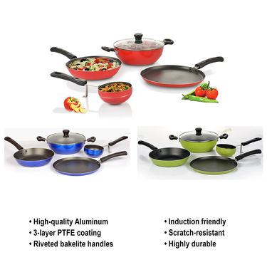 5 Pcs Premium Non Stick Cookware