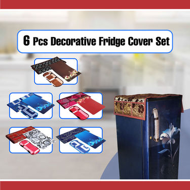 6 Pcs Decorative Fridge Cover Set - Pick Any 1